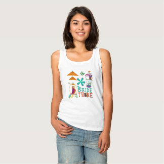 Tiki Birds Modern Vintage Retro BRIDE TRIBE Custom Tank Top