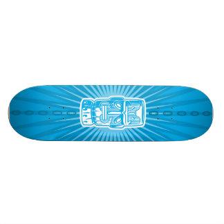 Tiki Blue skateboard