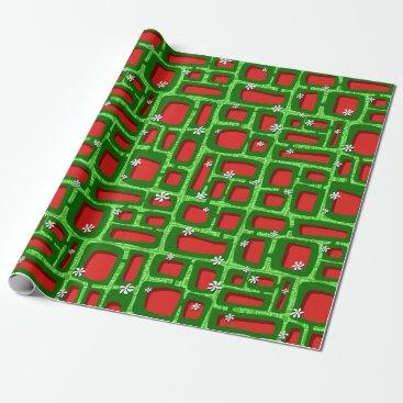 Beach Themed Tiki Bricks 010 Wrapping Paper
