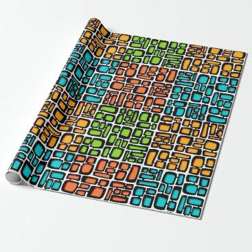 Beach Themed Tiki Bricks Wrapping Paper