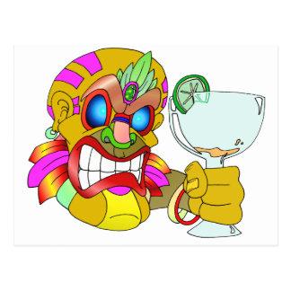 Tiki Drinking Postcard
