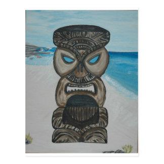 tiki en la playa 004 de Maui - copia Postal
