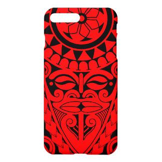 Tiki face and tribal sun tattoo design iPhone 8 plus/7 plus case