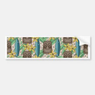Tiki Garden Bumper Sticker