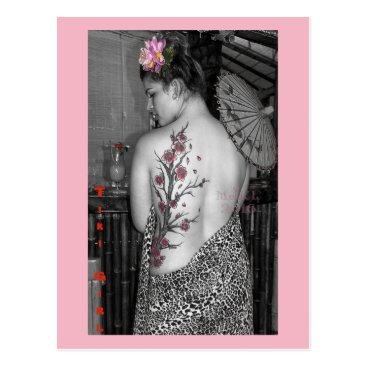 Hawaiian Themed Tiki Girl. Postcard