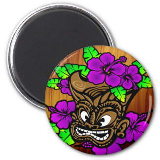Tiki God and Flowers Magnet