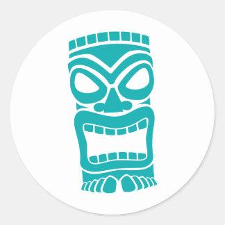 Tiki God Classic Round Sticker