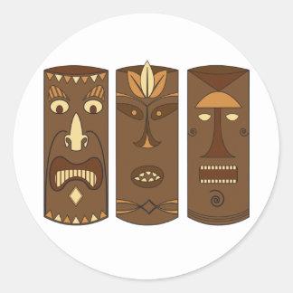 Tiki God & Goddess Classic Round Sticker