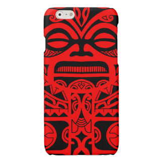 Tiki god tattoo design polynesian face tribal glossy iPhone 6 case