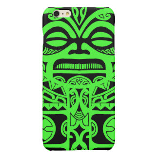 Tiki god tattoo design polynesian face tribal glossy iPhone 6 plus case