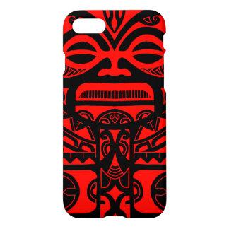 Tiki god tattoo design polynesian face tribal iPhone 8/7 case