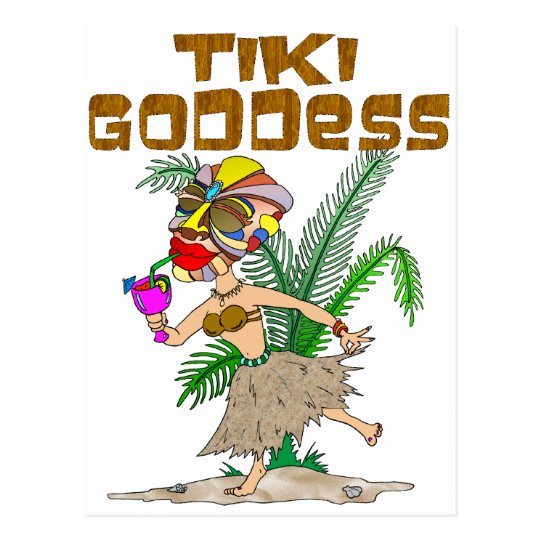 TIKI GODDESS POSTCARD