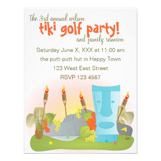 Tiki Golf Personalized Invitation