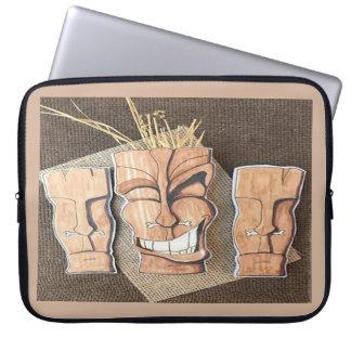 Tiki Grin! Laptop Sleeves