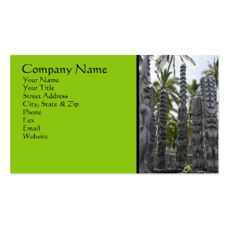 Tiki Guardians at Place of Refuge - Business Card