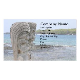 Tiki Guardians in Kona Hawaii - Business Card
