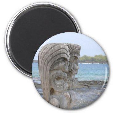 SolPacifico Tiki Guardians in Kona, Hawaii - Magnet