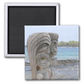 Tiki Guardians in Kona, Hawaii - Magnet
