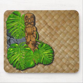 Tiki hawaiano Lauhala Mousepad Tapete De Ratón