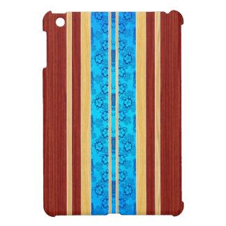 Tiki Hawiian Faux Wood Surfboard iPad Mini Covers