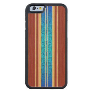 Tiki Hawiian Wood Surfboard Carved Maple iPhone 6 Bumper Case