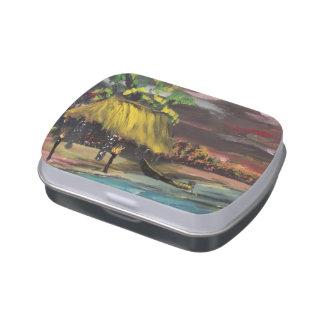 Tiki Hut Candy Tins
