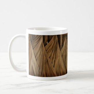 Tiki Hut Palm Fronds Pattern Background design mug