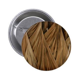 Tiki Hut Palm Fronds Pattern Pinback Button