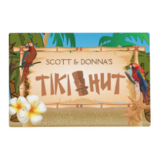 Tiki Hut Party Design Placemat
