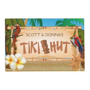 DesignsbyDonnaSiggy Tiki Hut Party Design Placemat