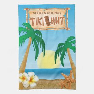 Hawaiian Palm Tree Kitchen & Hand Towels | Zazzle