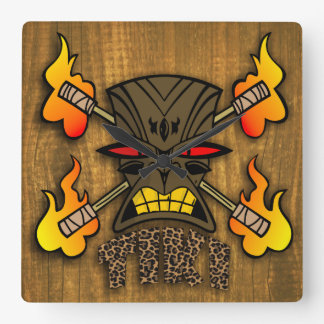 Tiki Kustom Square Wall Clock