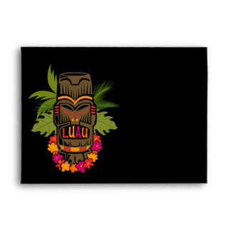 Tiki Luau Envelope