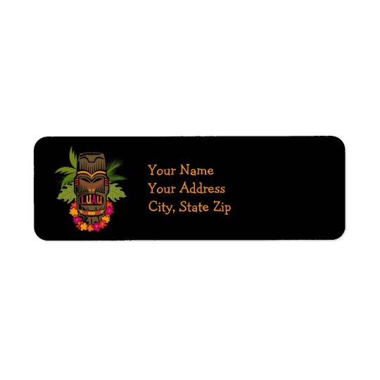 Tiki Luau Label