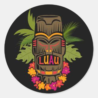 Tiki Luau Stickers