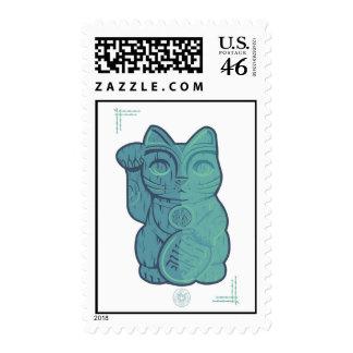 Tiki Lucky Cat Stamp