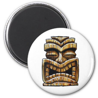 Tiki Man 2 Inch Round Magnet