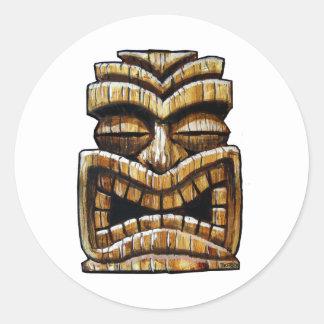 Tiki Man Classic Round Sticker
