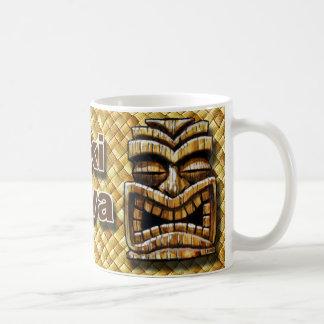Tiki Man Coffee Cup Classic White Coffee Mug