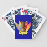Tiki Mask And Surfboards Bicycle Playing Cards