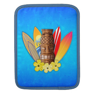 Tiki Mask And Surfboards Sleeve For iPads