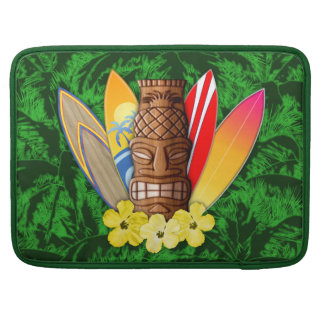 Tiki Mask And Surfboards MacBook Pro Sleeve