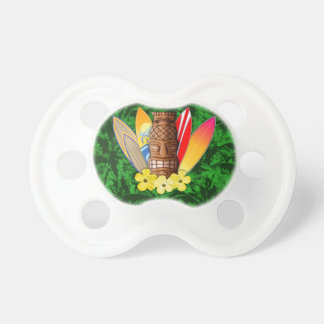 Tiki Mask And Surfboards BooginHead Pacifier