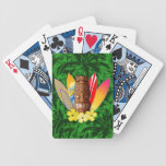 Tiki Mask And Surfboards Poker Cards