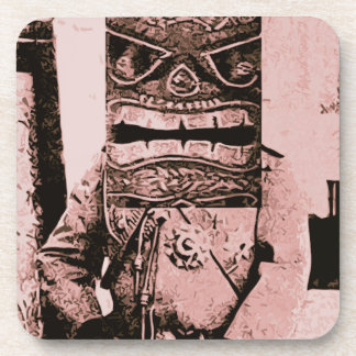 Tiki Mask Man Drink Coasters