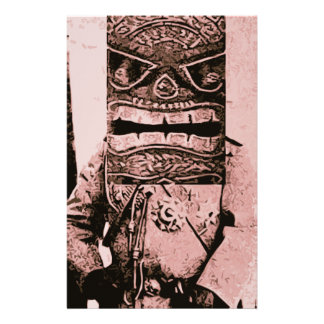 Tiki Mask Man Stationery