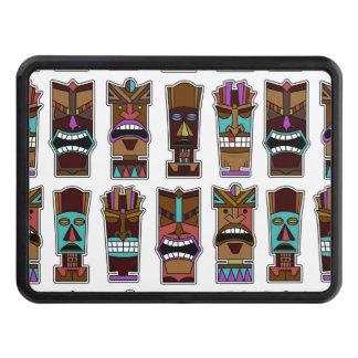 Tiki Mask Pattern Hitch Covers
