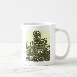Tiki Mask Soldier Coffee Mug