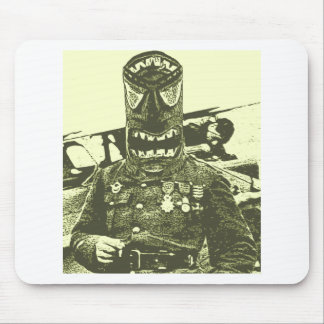 Tiki Mask Soldier Mouse Pad