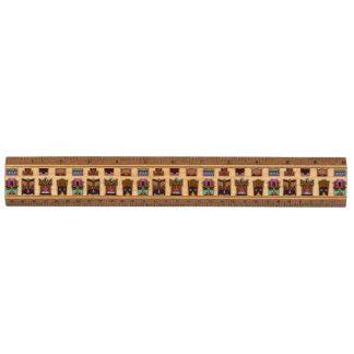 Tiki Masks Pattern Ruler